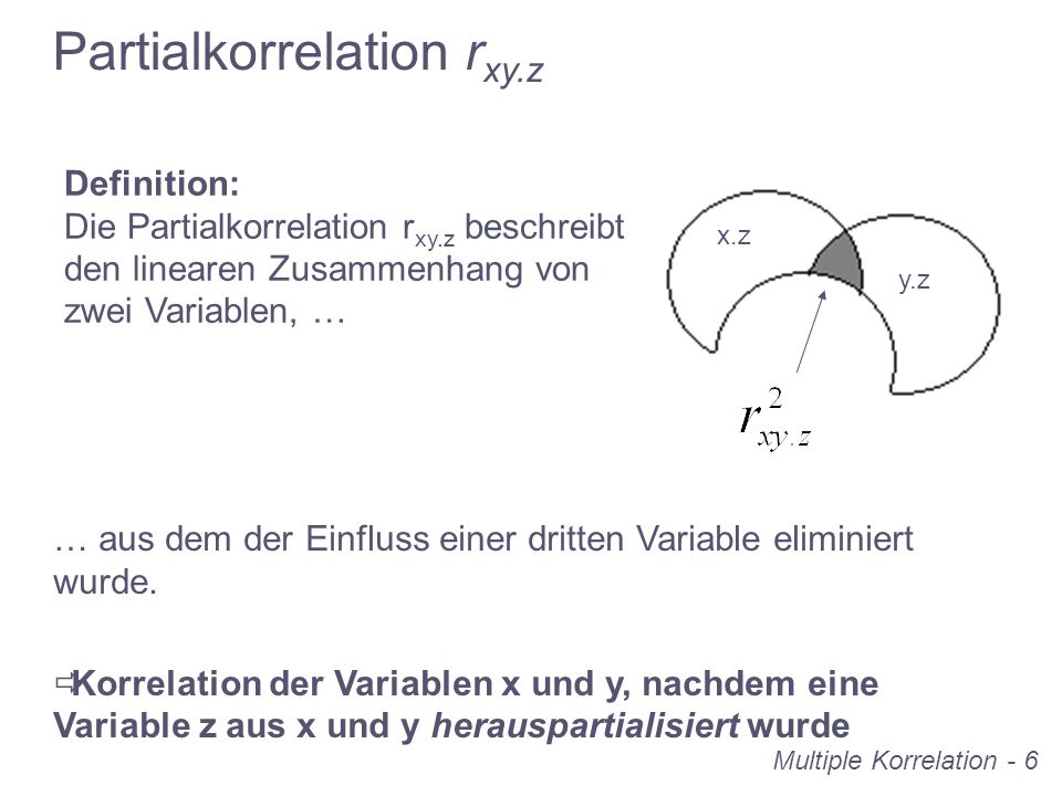 Partialkorrelation rxy.z