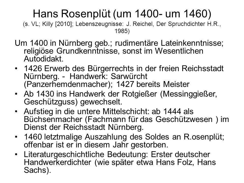 Hans Rosenplüt (um 1400- um 1460) (s