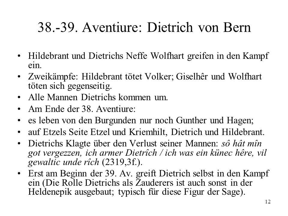 38.-39. Aventiure: Dietrich von Bern