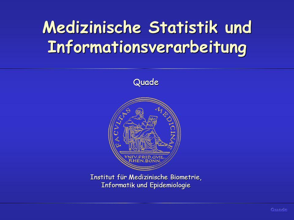 Medizinische Statistik und Informationsverarbeitung