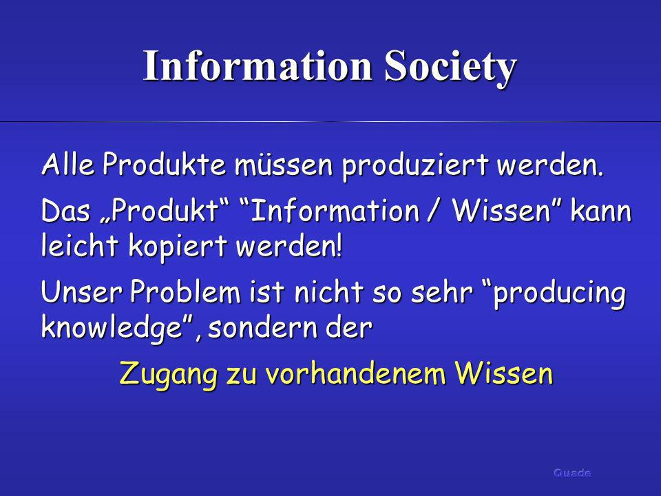 Zugang zu vorhandenem Wissen