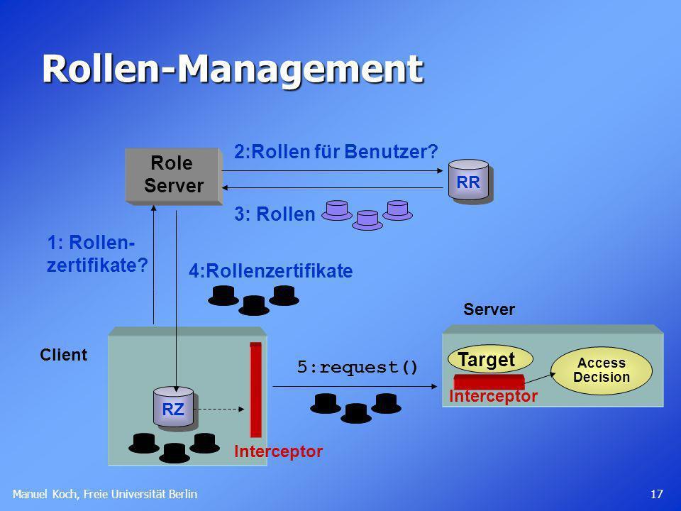 Rollen-Management 2:Rollen für Benutzer Role Server 3: Rollen