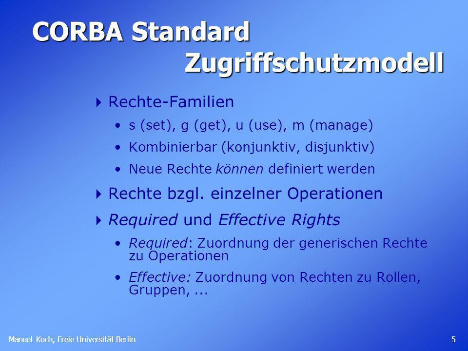 CORBA Standard Zugriffschutzmodell