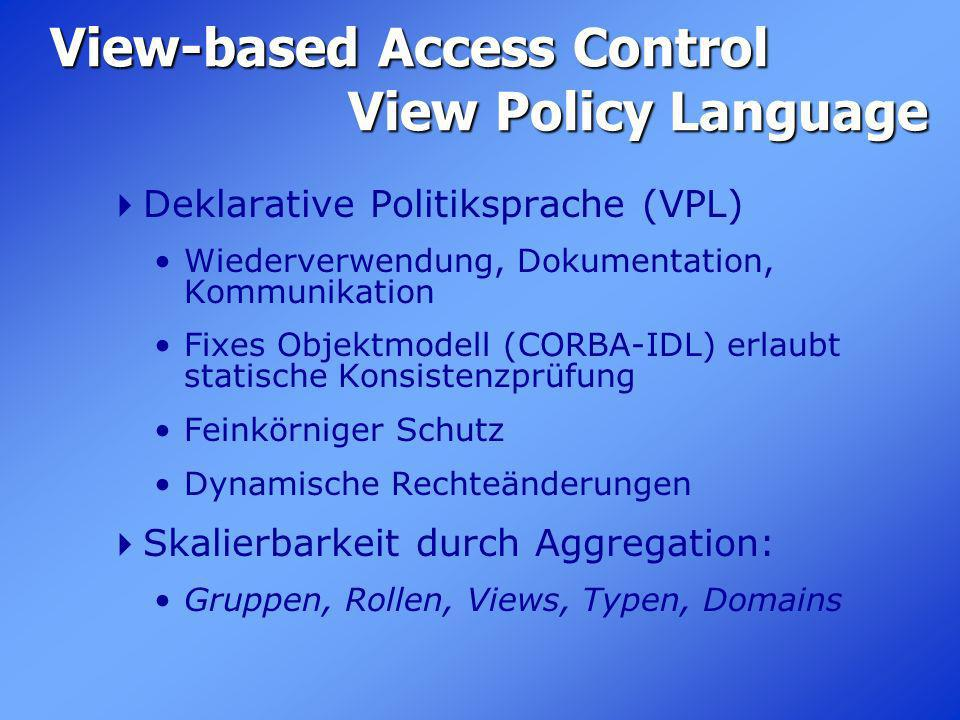 View-based Access Control View Policy Language