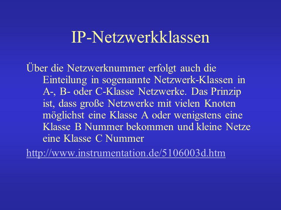 IP-Netzwerkklassen