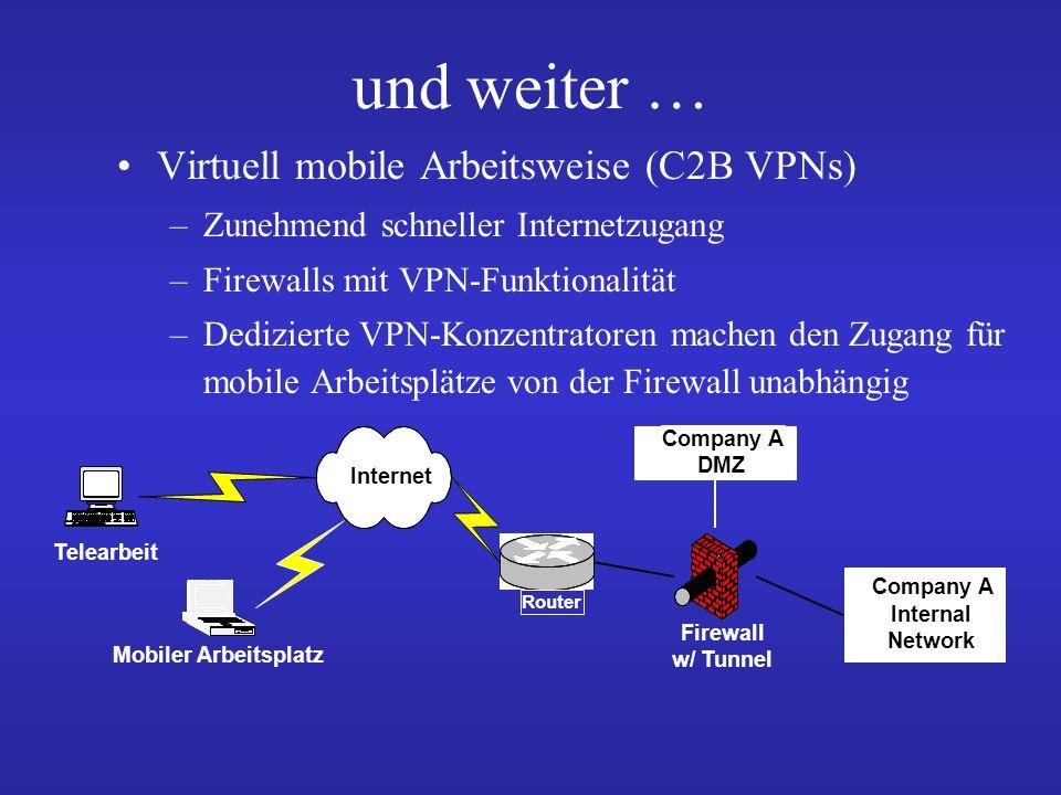 und weiter … Virtuell mobile Arbeitsweise (C2B VPNs)