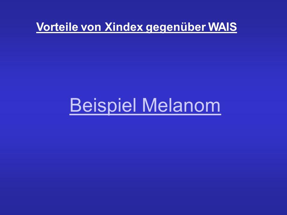 Vorteile von Xindex gegenüber WAIS