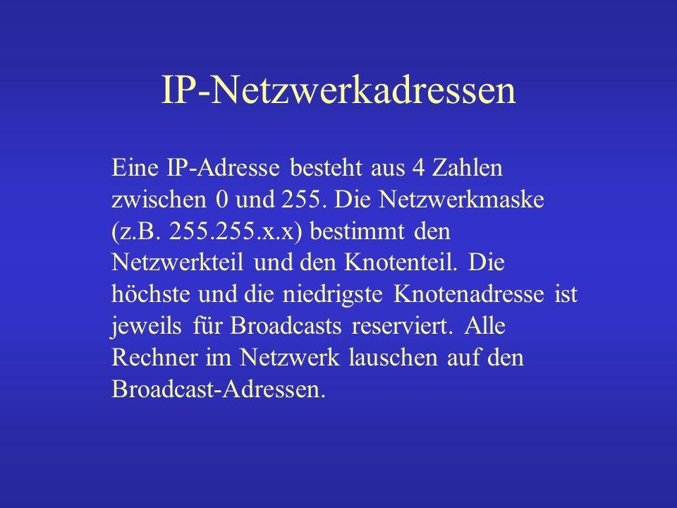 IP-Netzwerkadressen