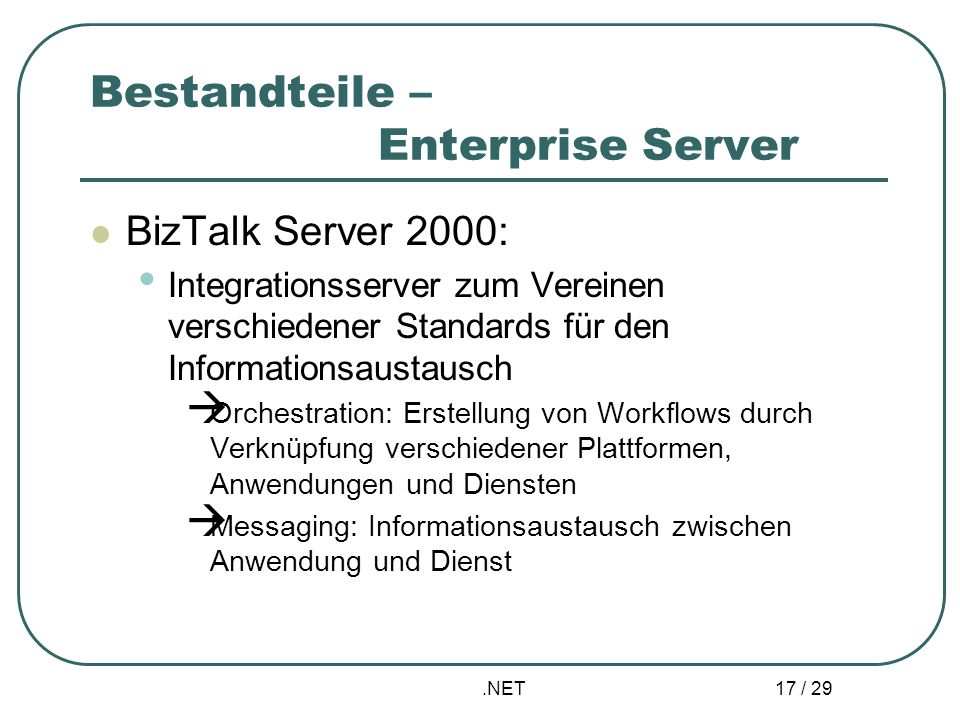 Bestandteile – Enterprise Server