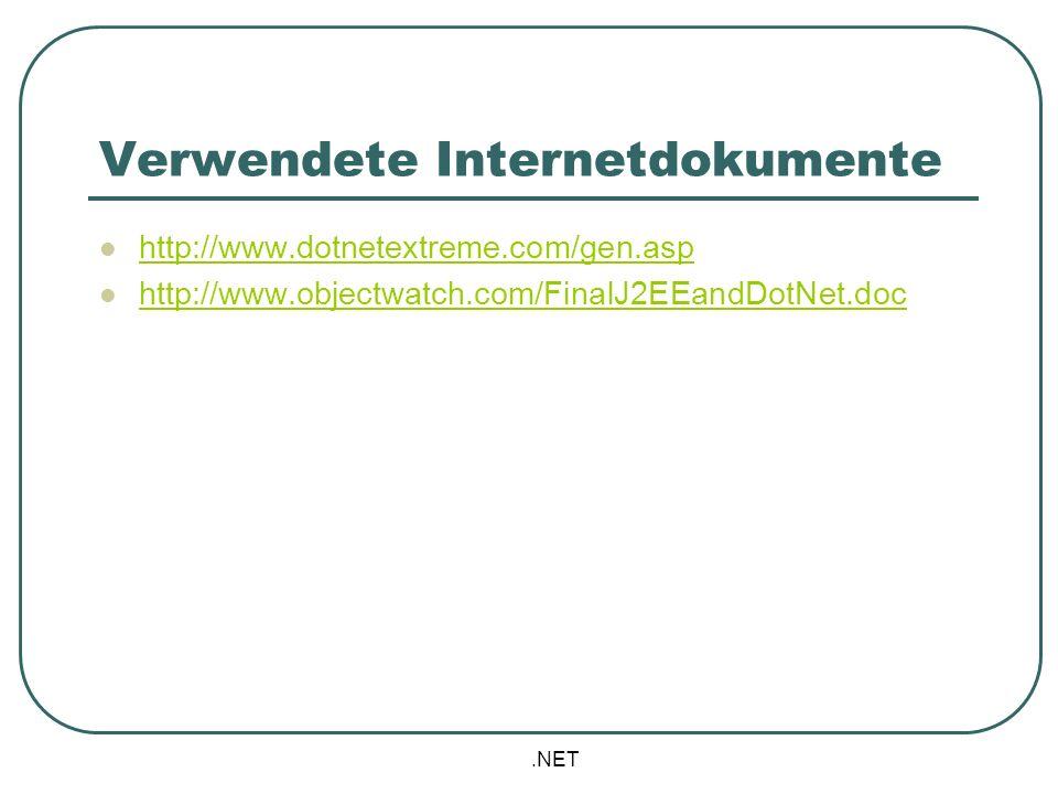 Verwendete Internetdokumente