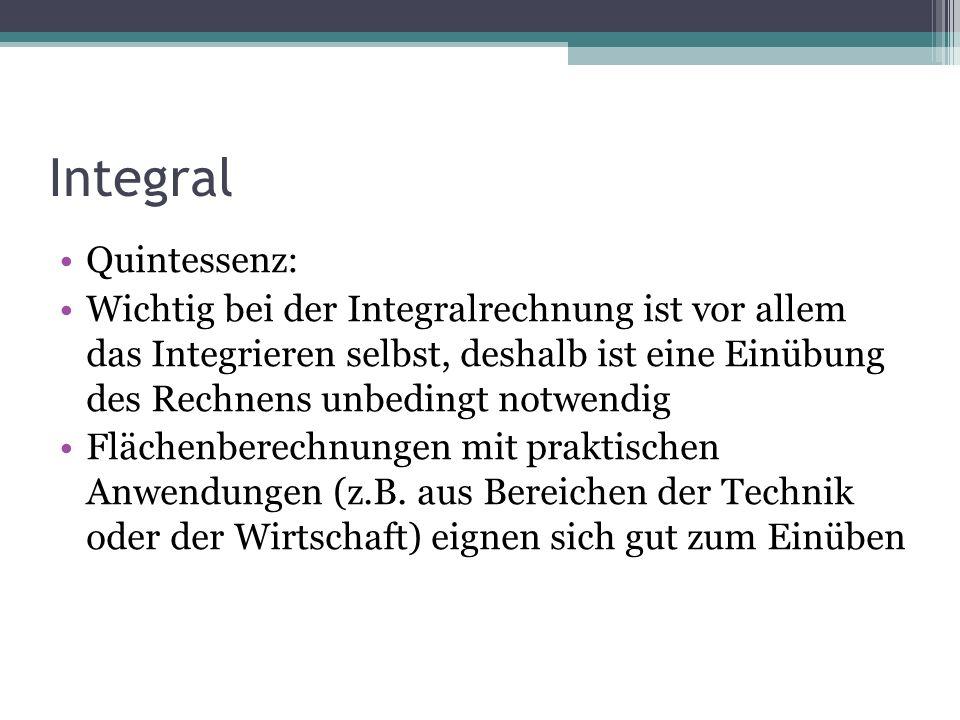 Integral Quintessenz: