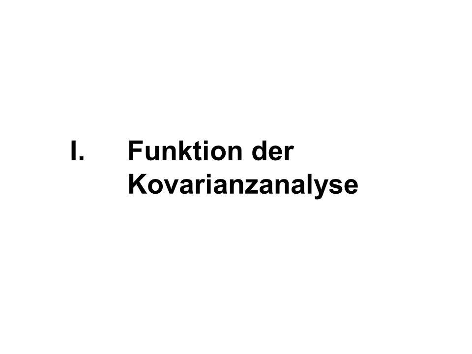 Funktion der Kovarianzanalyse