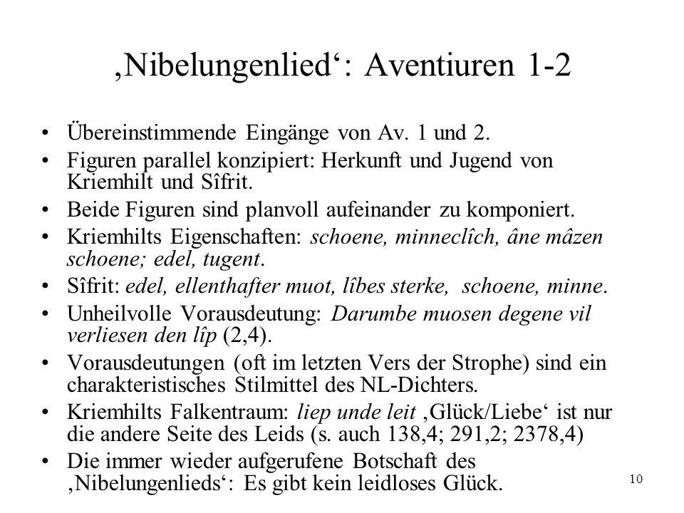 'Nibelungenlied': Aventiuren 1-2