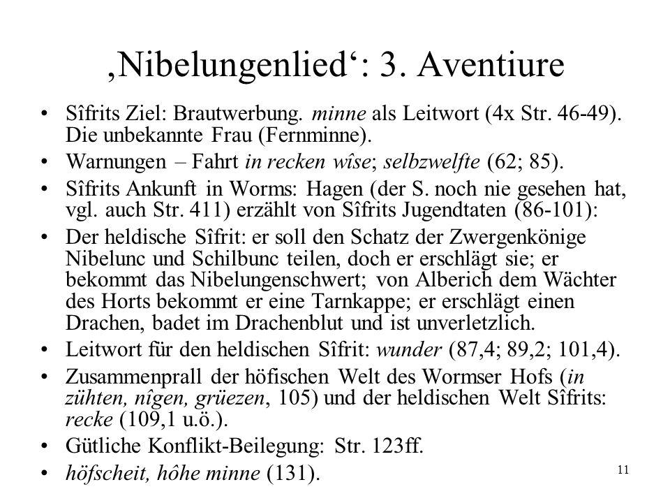 'Nibelungenlied': 3. Aventiure