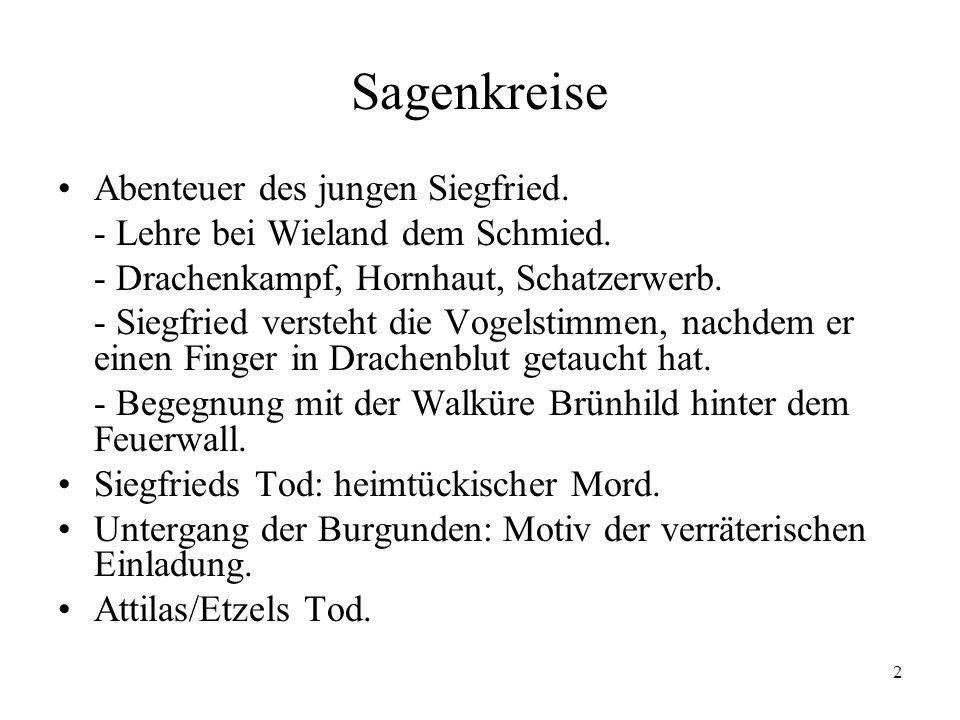 Sagenkreise Abenteuer des jungen Siegfried.
