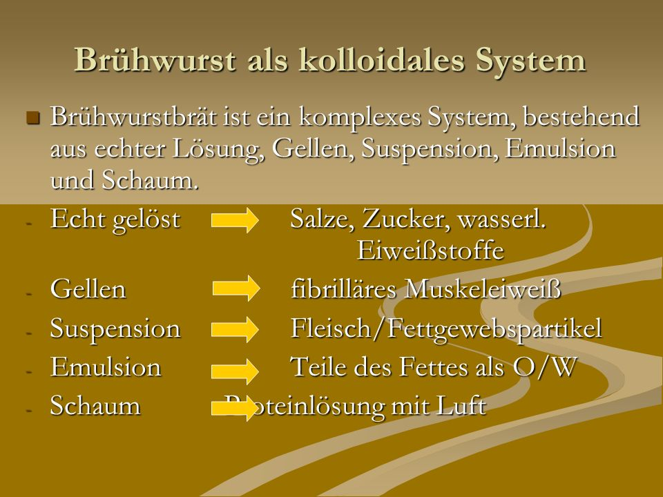 Brühwurst als kolloidales System