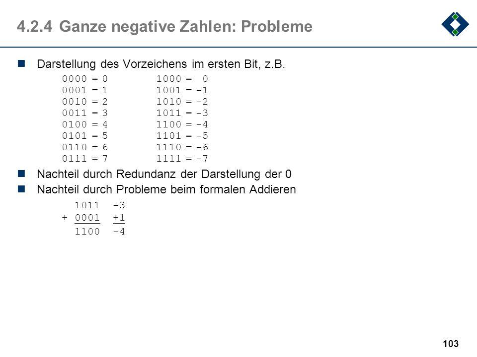 4.2.4 Ganze negative Zahlen: Probleme