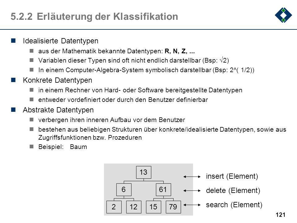 5.2.2 Erläuterung der Klassifikation