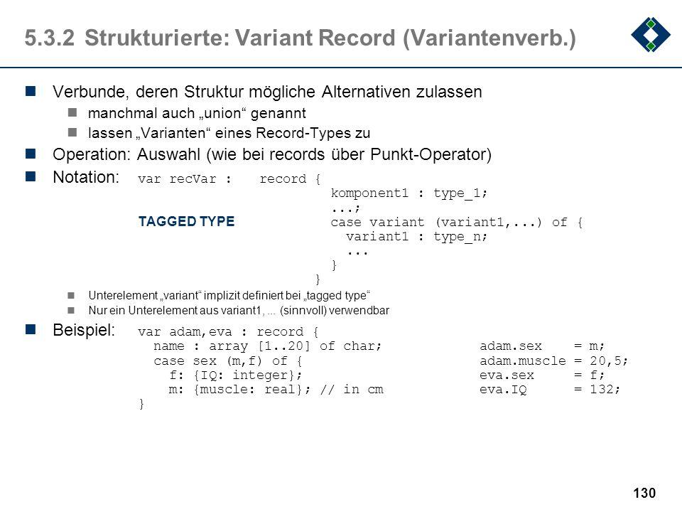 5.3.2 Strukturierte: Variant Record (Variantenverb.)