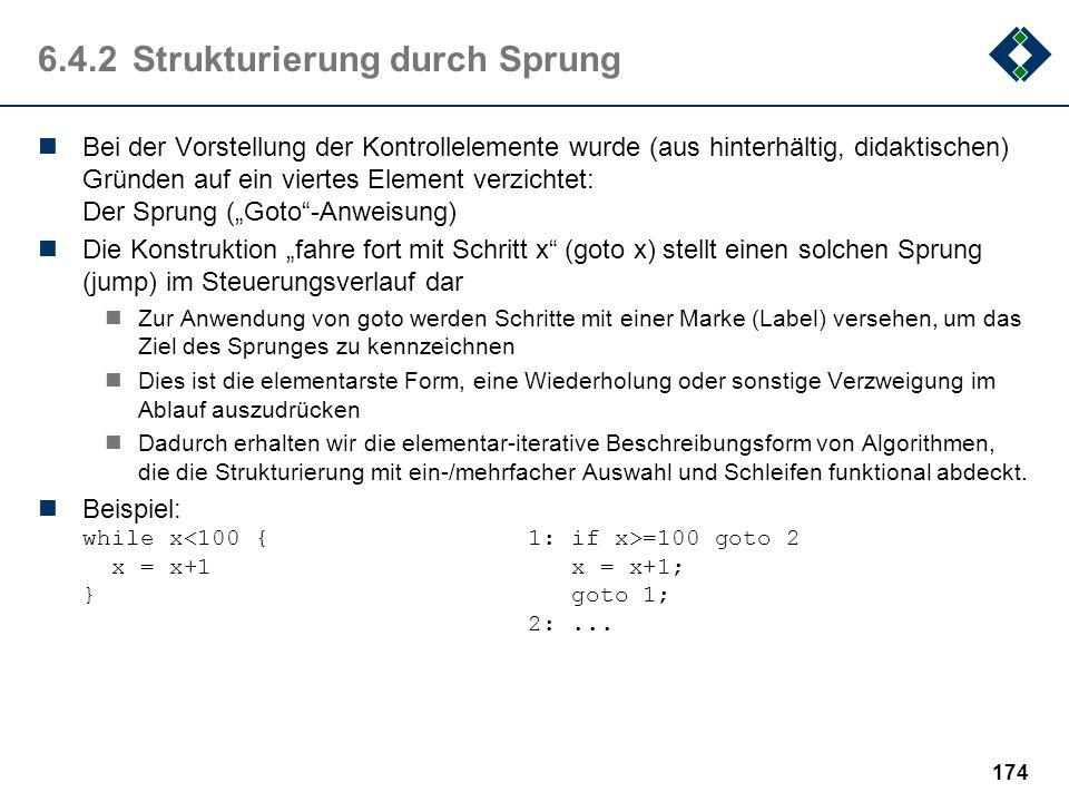 6.4.2 Strukturierung durch Sprung