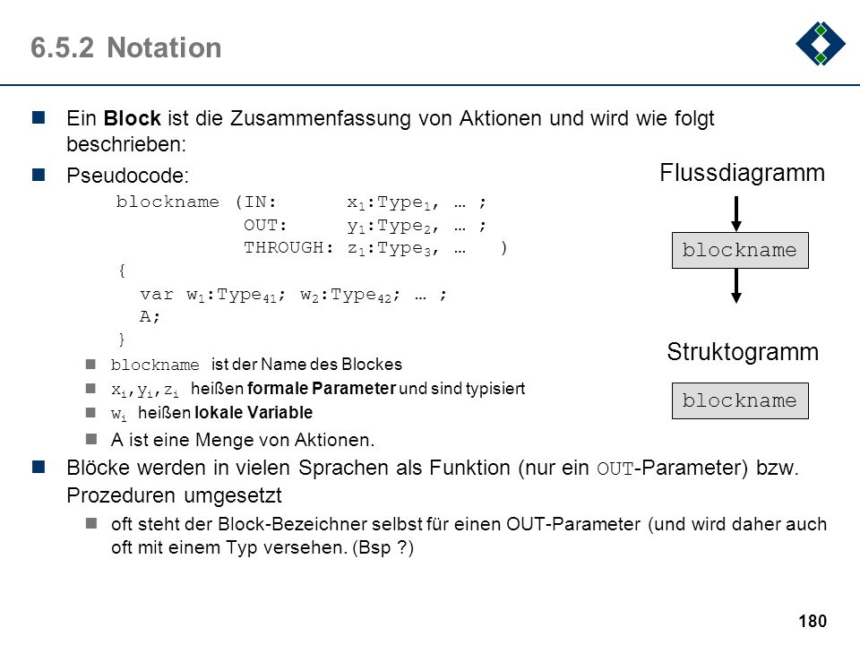 6.5.2 Notation Flussdiagramm Struktogramm