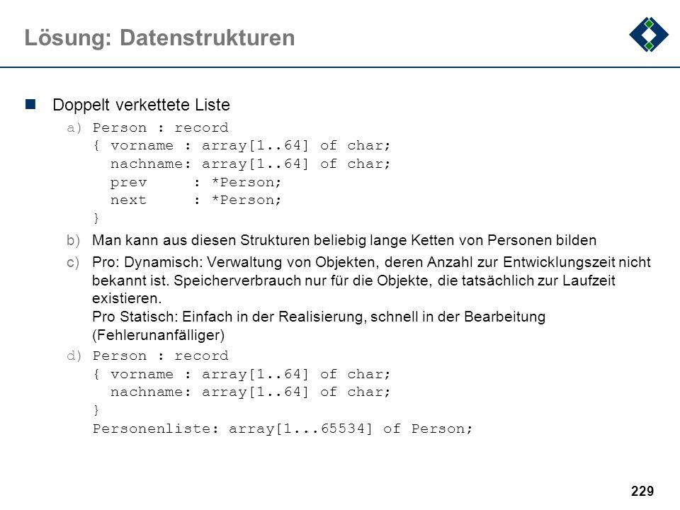 Lösung: Datenstrukturen
