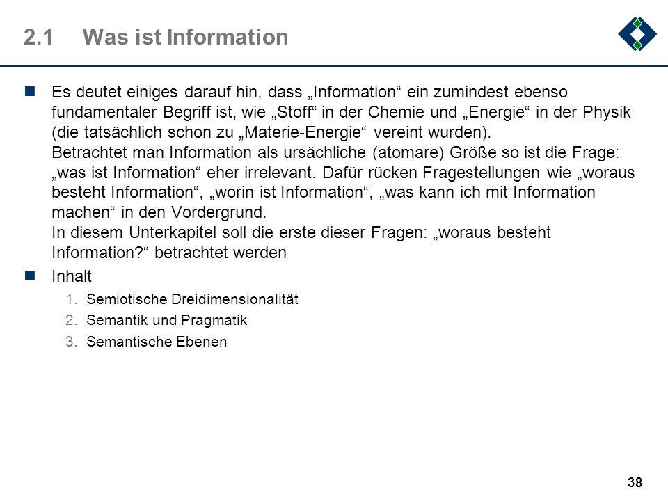 2.1 Was ist Information