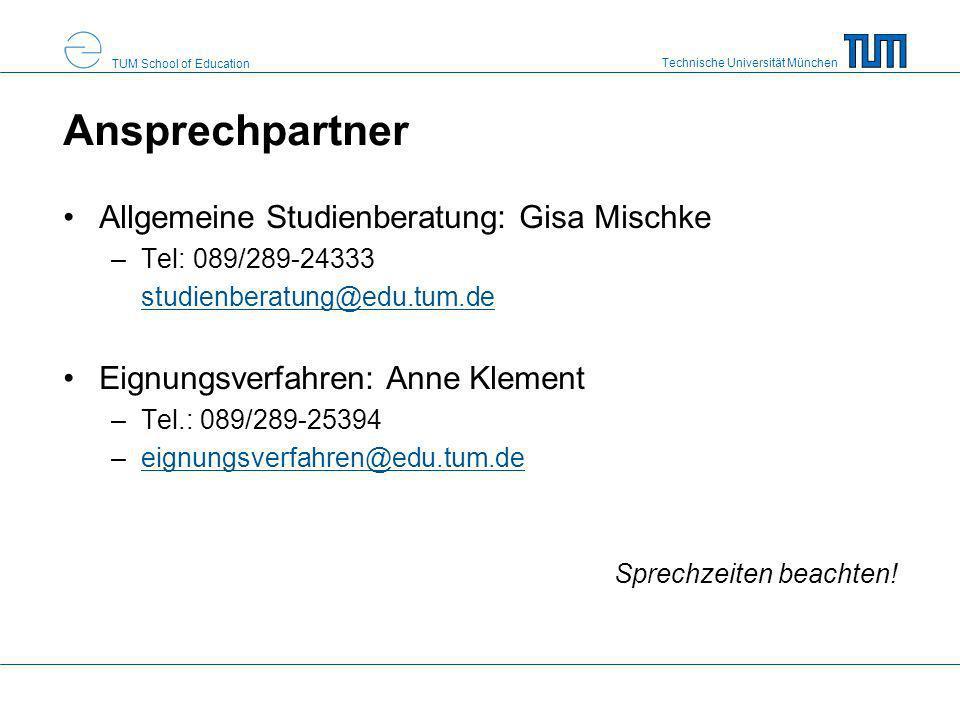 Ansprechpartner Allgemeine Studienberatung: Gisa Mischke