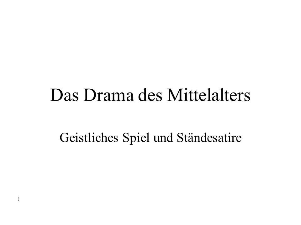 Das Drama des Mittelalters