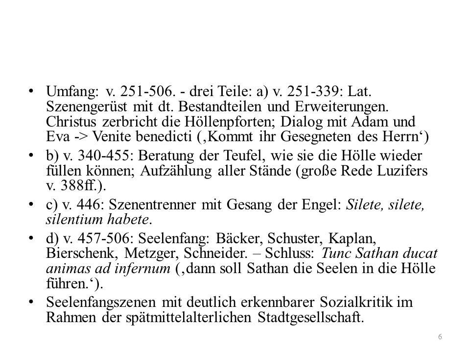 Höllenfahrt im Geistlichen Spiel 1. im 'Innsbrucker Osterspiel'