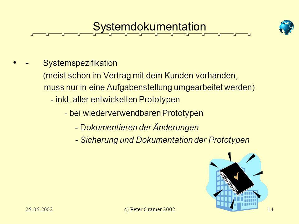 Systemdokumentation - Systemspezifikation