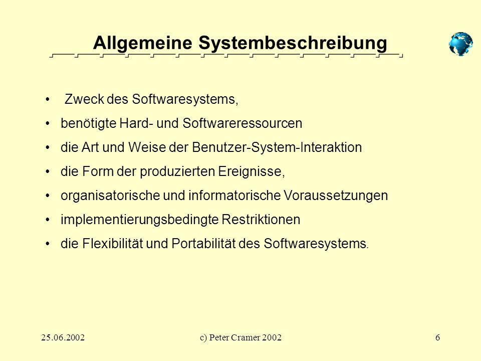 Allgemeine Systembeschreibung