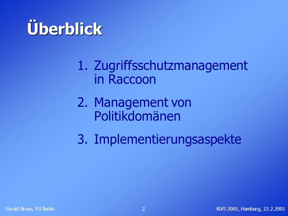 Überblick Zugriffsschutzmanagement in Raccoon