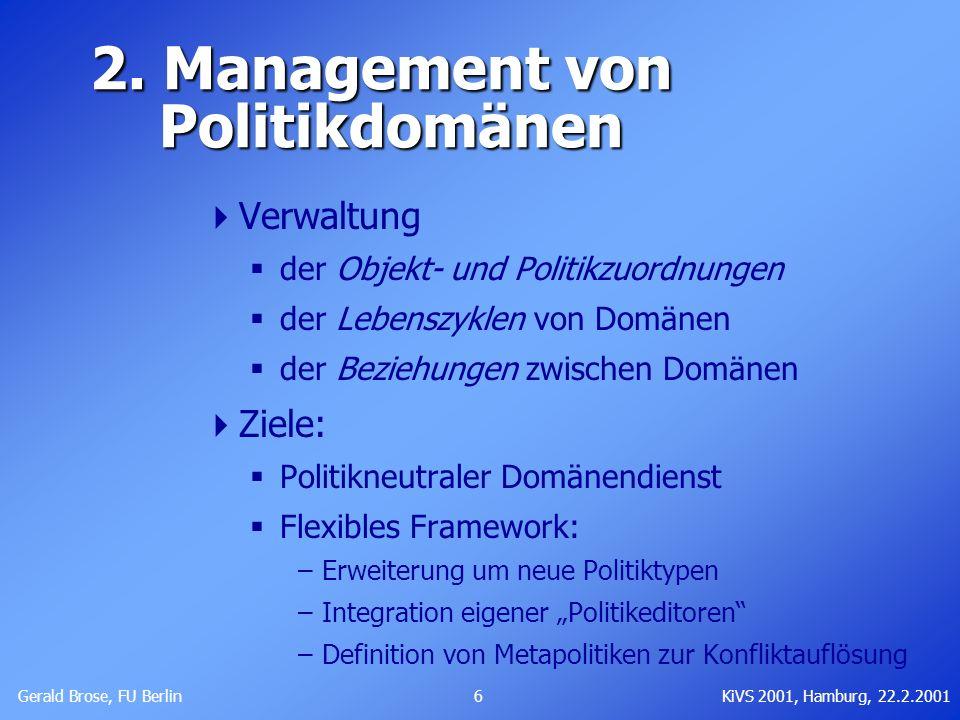 2. Management von Politikdomänen