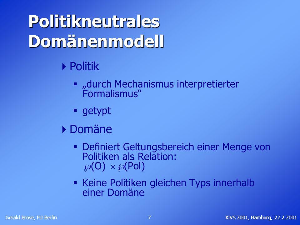 Politikneutrales Domänenmodell