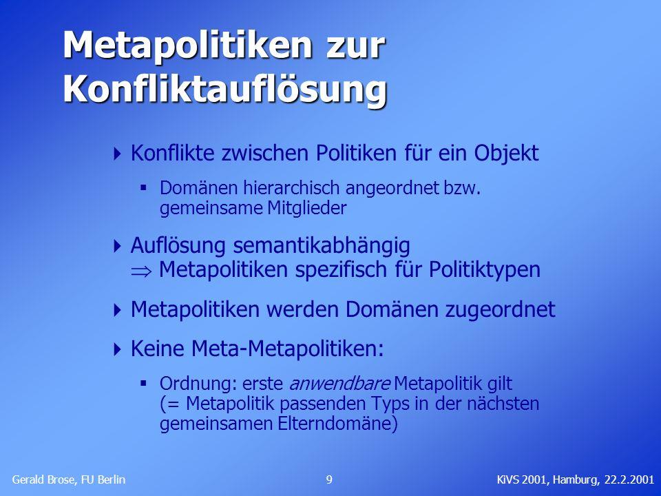 Metapolitiken zur Konfliktauflösung