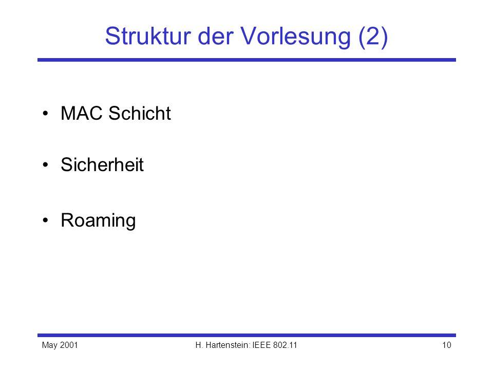 Struktur der Vorlesung (2)