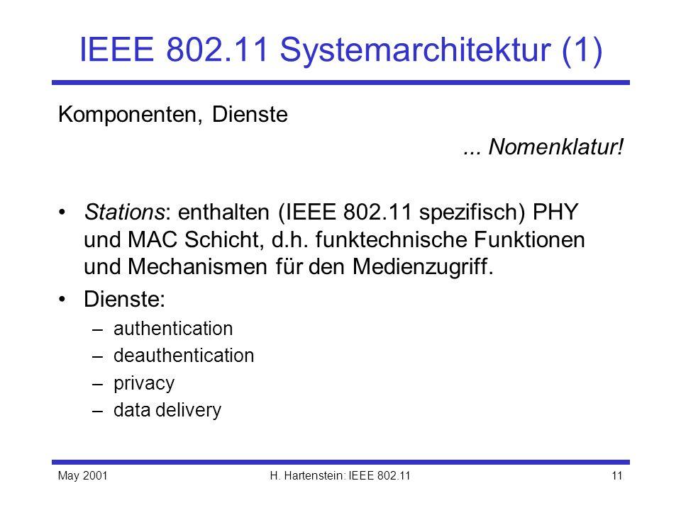 IEEE 802.11 Systemarchitektur (1)
