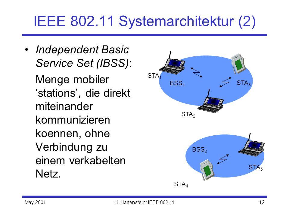 IEEE 802.11 Systemarchitektur (2)