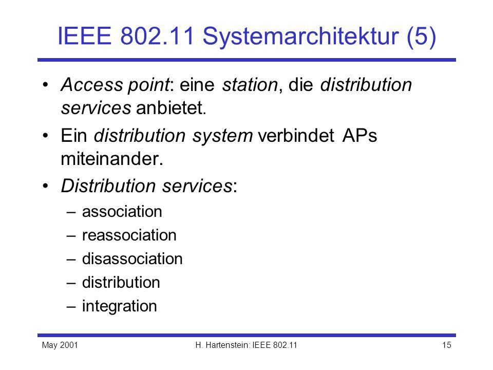 IEEE 802.11 Systemarchitektur (5)