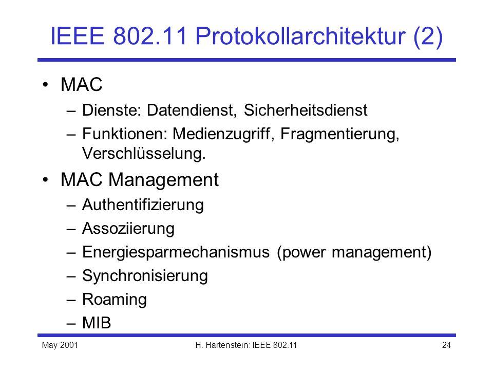 IEEE 802.11 Protokollarchitektur (2)