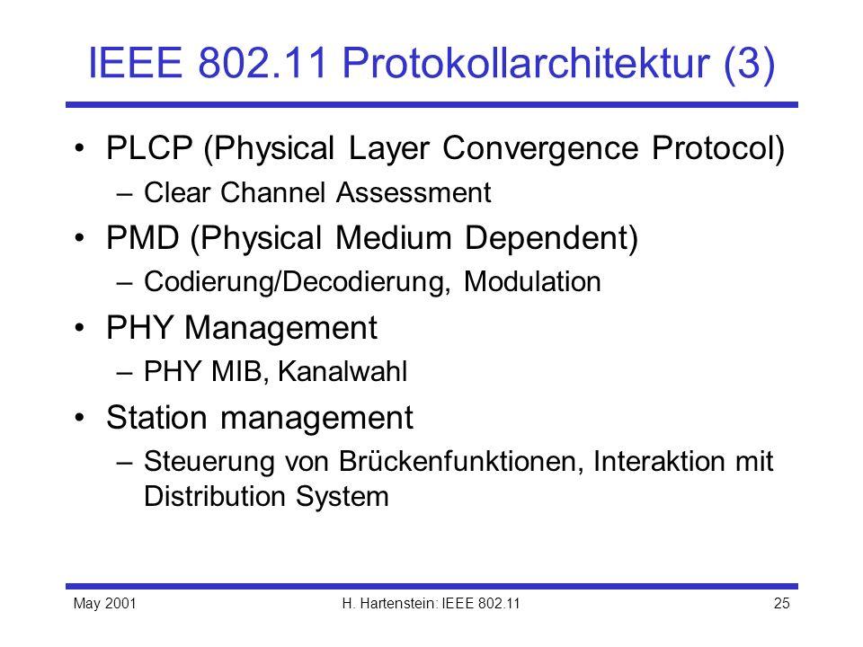 IEEE 802.11 Protokollarchitektur (3)