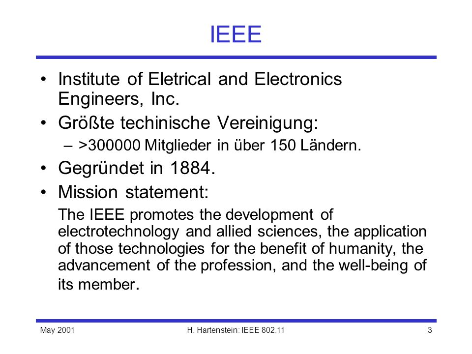 IEEE Institute of Eletrical and Electronics Engineers, Inc.