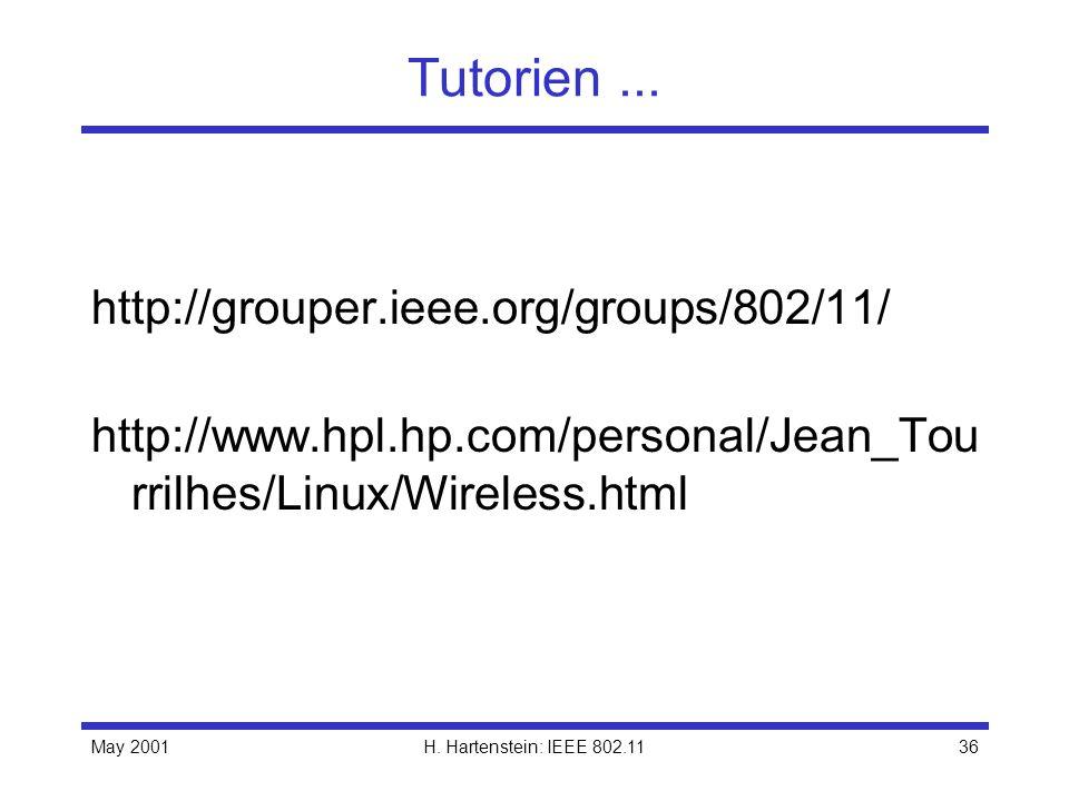Tutorien ... http://grouper.ieee.org/groups/802/11/