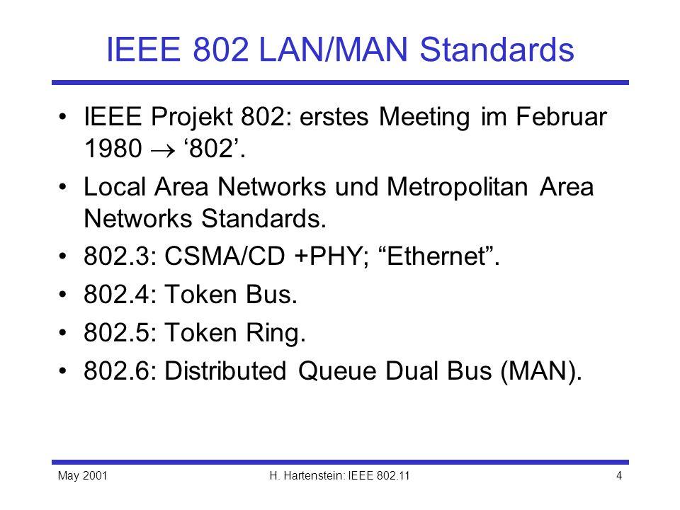 IEEE 802 LAN/MAN Standards