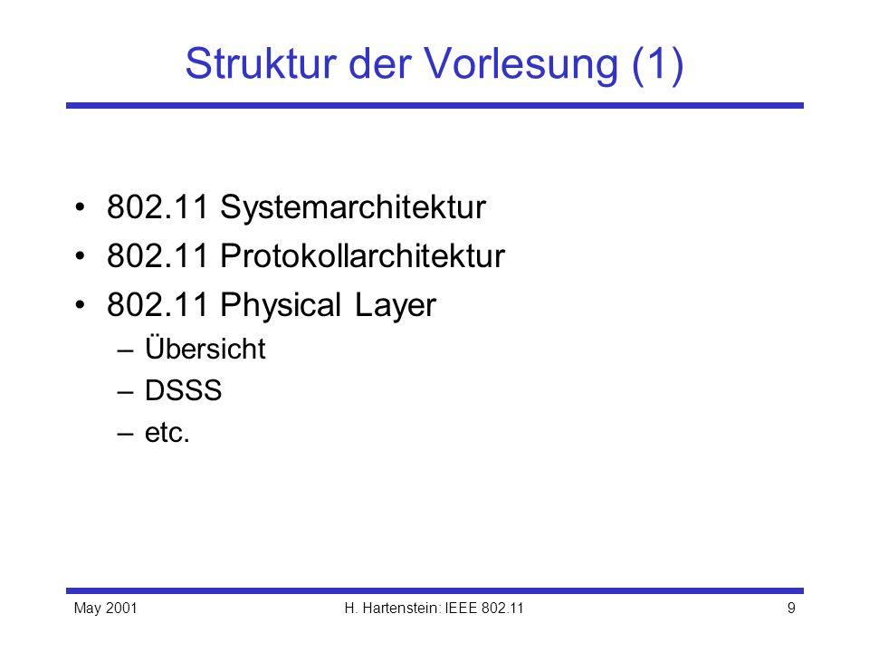 Struktur der Vorlesung (1)