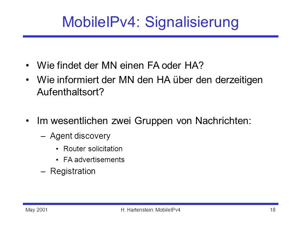 MobileIPv4: Signalisierung