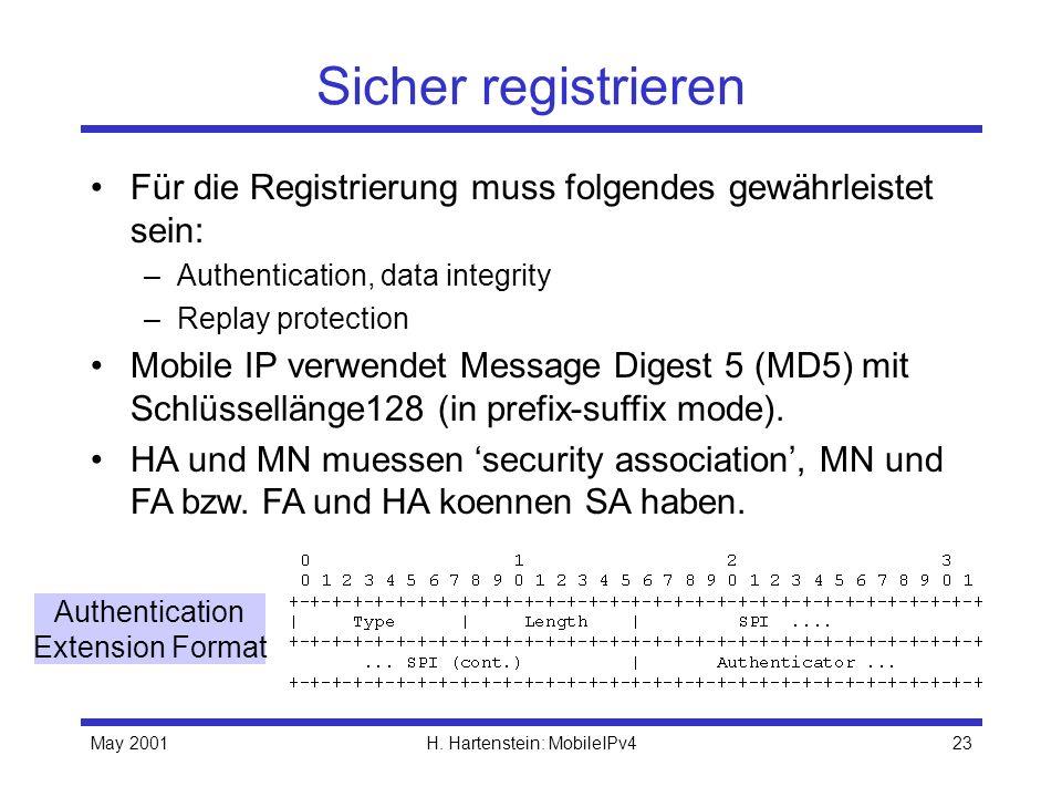 H. Hartenstein: MobileIPv4