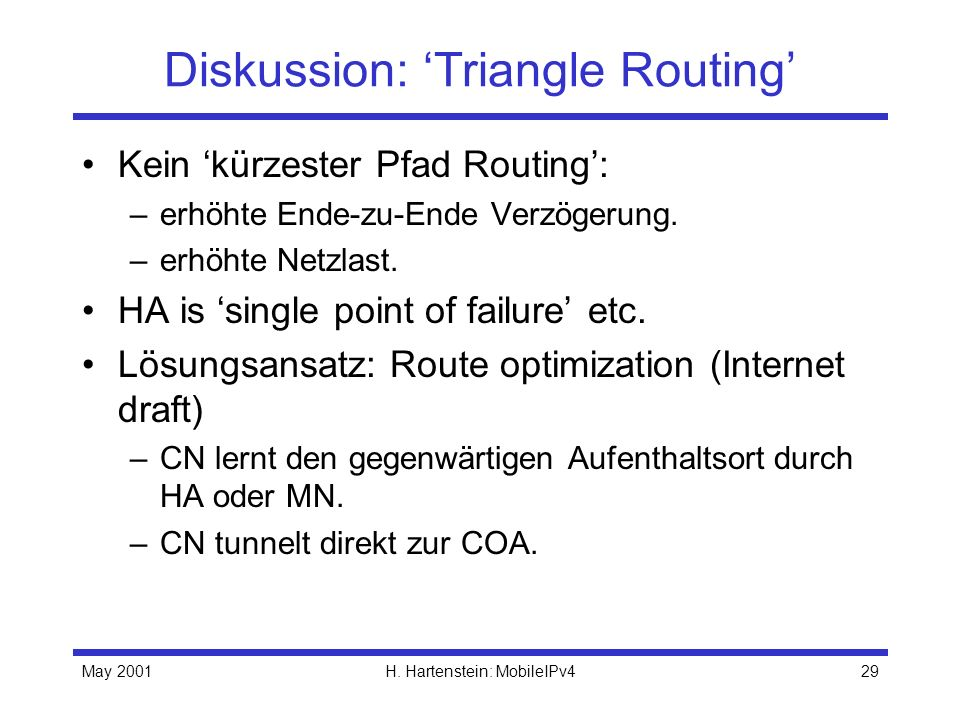 Diskussion: 'Triangle Routing'