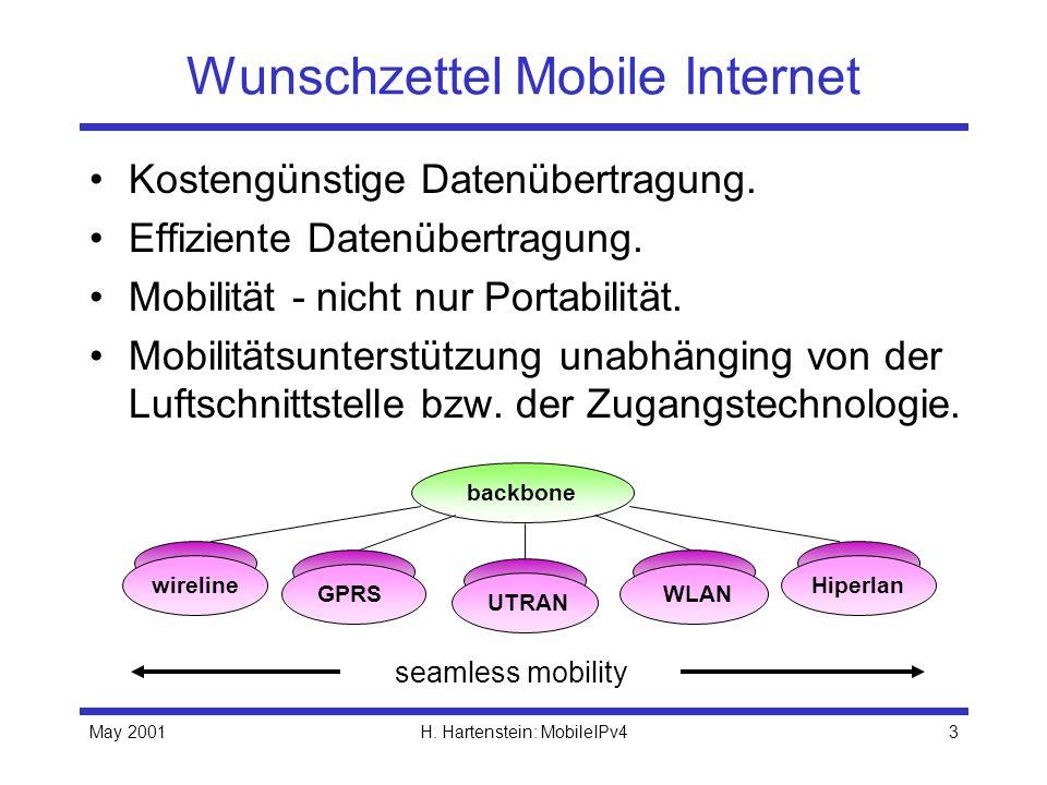 Wunschzettel Mobile Internet
